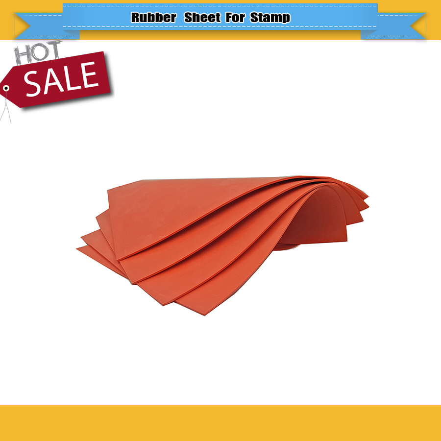 Red Rubber Sheet One Pcs A4 2.3mm  Rubber Sheet For Sealer Stamp Laser Engraver Engraving Free Shipping