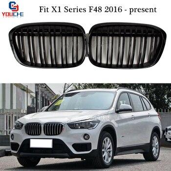 X1 F48 Ersatz Racing Grills Für BMW X1 Serie F48 2016 + 5-tür SUV xDrive20i Front Stoßstange Niere grille Netz