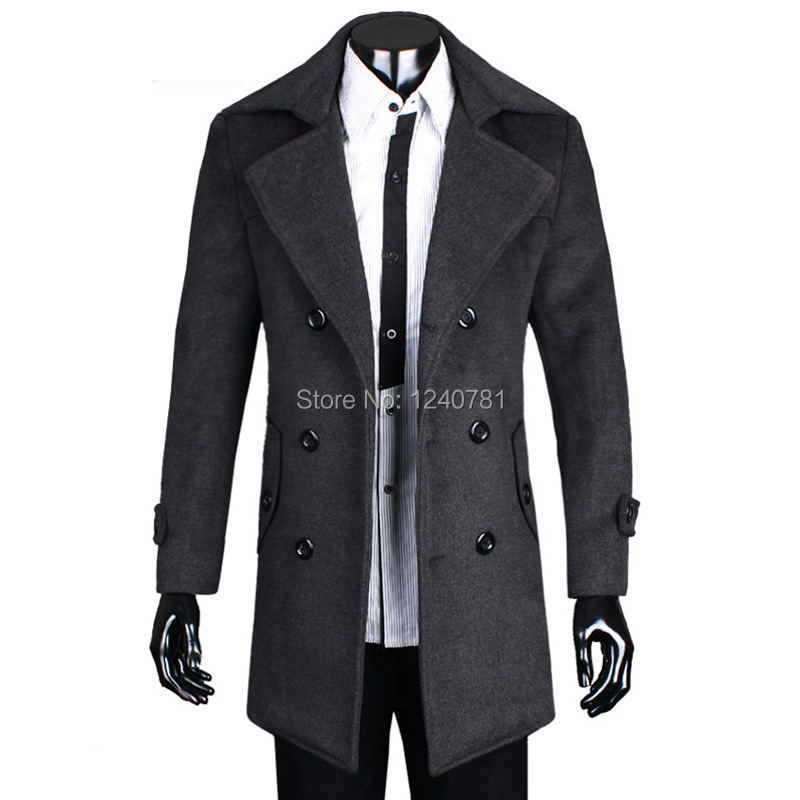 Popular Wool Long Coat Men-Buy Cheap Wool Long Coat Men lots from ...