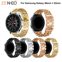 46mm watch Band For Samsung Galaxy Watch Bracelet Leisure Metal Strap replacement Straps 22mm wristband