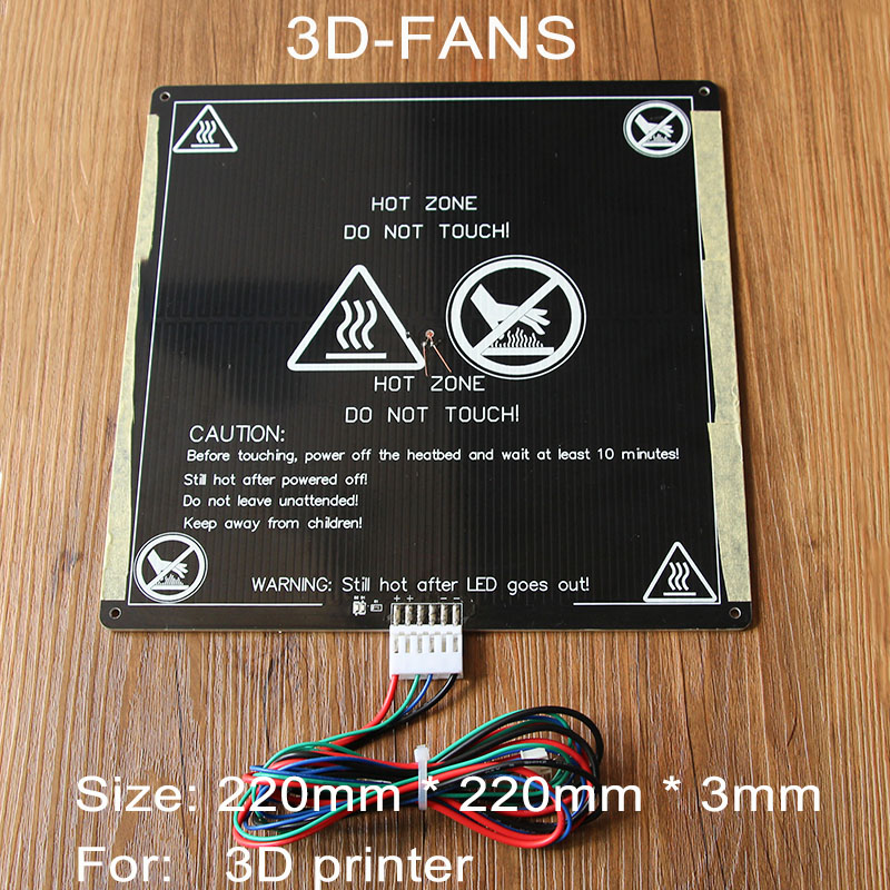 1Pcs Anet A6 A8 MK3 12V Hotbed Aluminum Heated Bed Upgraded from MK2B & MK2A for Mendel RepRap i3 3D Printer Hot bed emissions from circulating fluidized bed