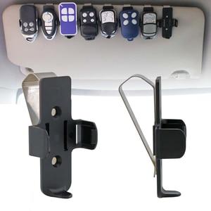 Image 5 - Araba anahtarı garaj kapısı anahtar uzaktan kelepçe braketi araba güneşlik klip tutucu oto Fastener klip evrensel braketi araba aksesuarları