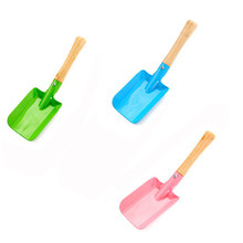 Mini Colorful Shovel Garden Hand Tools Wooden Handle+Iron Scoops For Planting Flowers/Grass Household Gardening Tools 3 Colors(China)