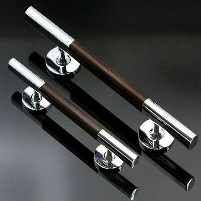 300mm de alta qualidade brilhante prata liga de zinco porta de madeira grande grão de madeira grande portão portão punho KTV hotel de escritório em casa puxa