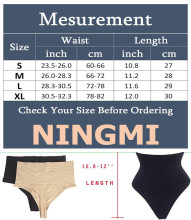 NINGMI Sexy Thong Shapewear Butt Lifter Women High Waist Trainer Tummy Control Panties Knicker Slimming Underwear Cincher Girdle
