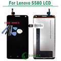 1/PCS 100% Tested New LCD FOR Lenovo S580 LCD Display Screen + Touch Digitizer Screen Assembly +Tools free shipping