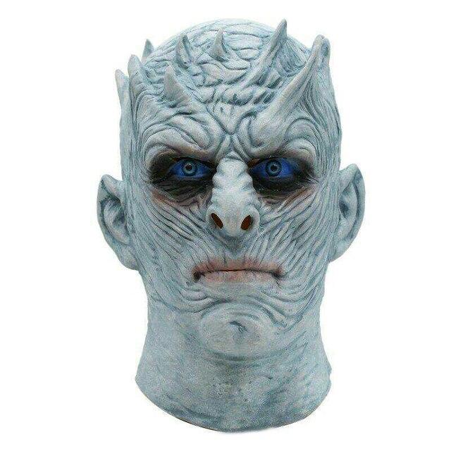 Фильм Игра престолов ночной король маска Хэллоуин реалистичный страшный Косплей Костюм латексная маска для вечеринки взрослый реквизит «зомби»