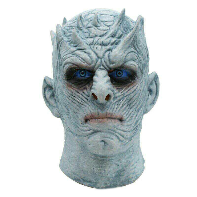 Adult Scary Cosplay Latex Game of Thrones Night King Party Masks Full Face Overhead Zombie Costume Movie Mask Events Props Toys