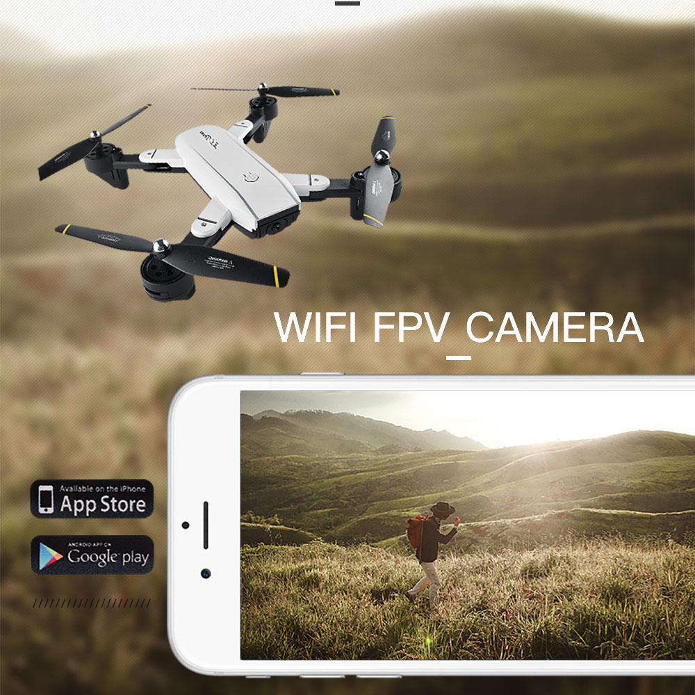 Wifi Foldable Selfie Drone w/ Altitude Hold & Headless Gesture Control 4