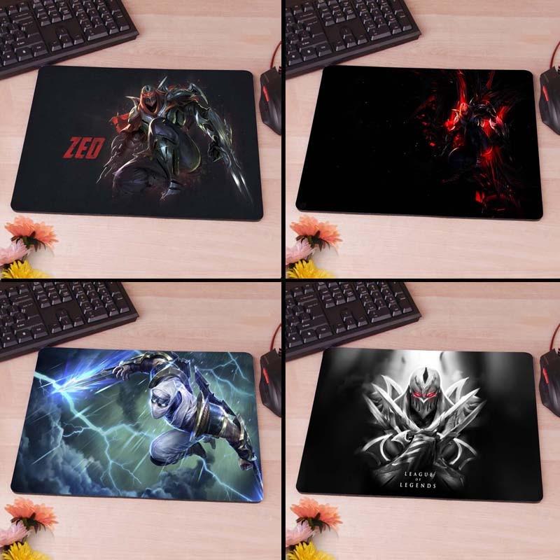 League of Legends Zed Computer Mouse Pad Mousepads Decorate Your Desk Non-Skid Rubber Pad