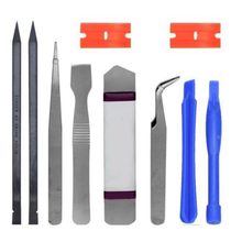 Mayitr Useful 10 in 1 Phone Opening Repair Pry Screwdrivers Tool Set Kits for iP