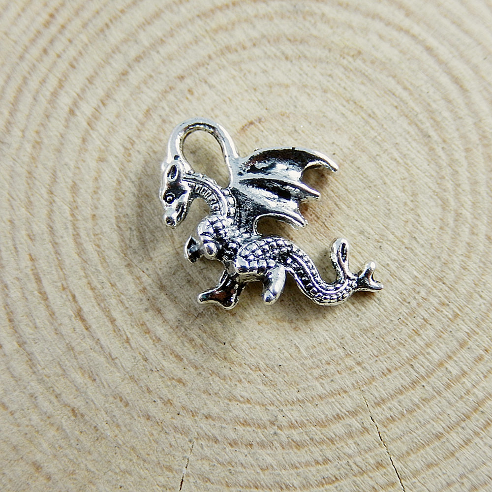 5Pcs Antiqued Silver Tone Lovely Animal Cat Charms Pendants 14x24mm