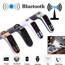 Беспроводной Bluetooth fm-передатчик G7+ AUX модулятор Автомобильный комплект MP3 плеер USB lcd автомобильные аксессуары зарядное устройство для iPhone