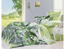 Комплект постельного белья полутораспальный СайлиД, B, зеленый, с цветами