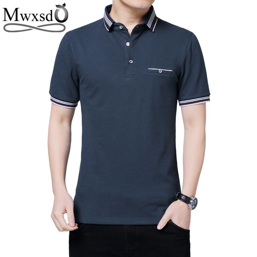 Mwxsd brand summer men short sleeve   polo   shirt Men's solid cotton   Polo   shirt breath   polo   camisa masculino big size 4xl 5xl
