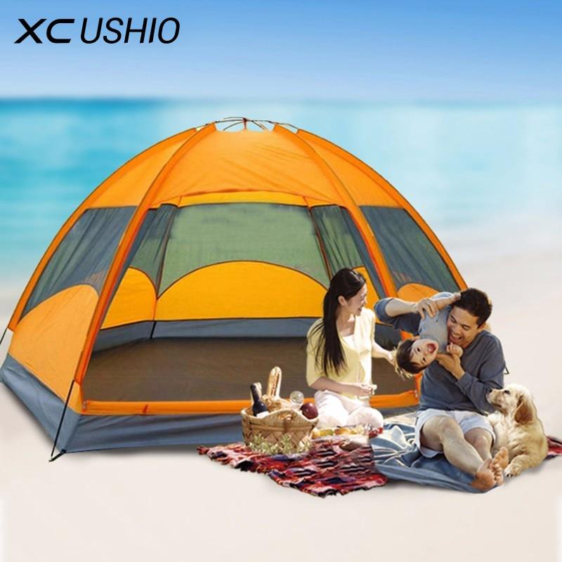 Mongolian Yurt Tent Fishing Mosquito Net Picnic Family Outdoor Camp Summer Beach Camping Tent 5 Person Waterproof outdoor camping tent 3 4 beach tent camping tent single summer mosquito children play tent