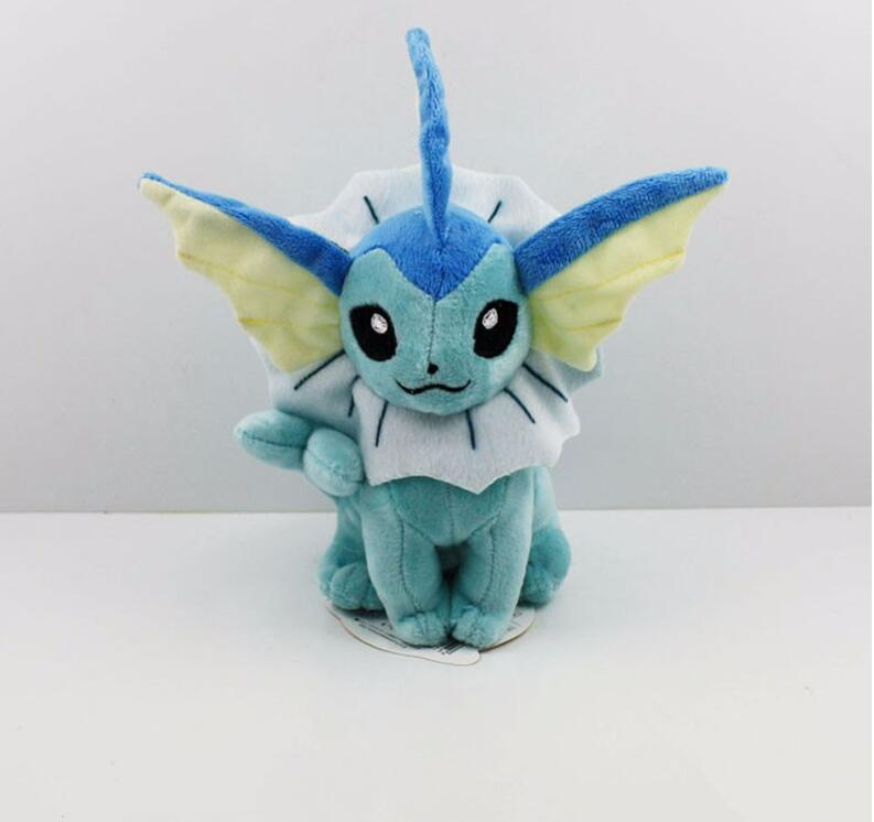 Pokemon plush 20cm anime cartoon pokemon eevee vaporeon soft stuffed plush t
