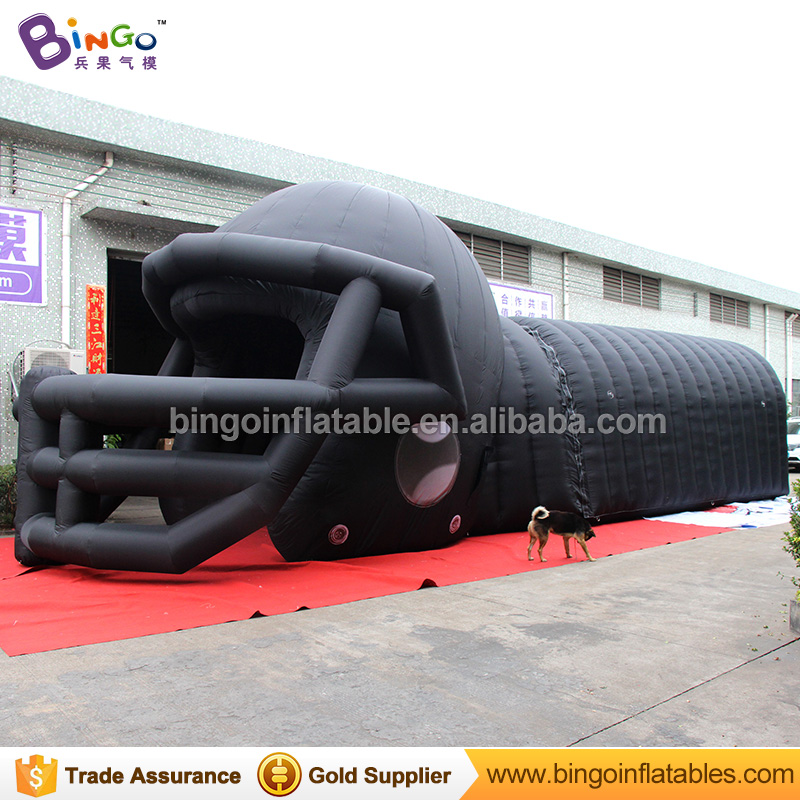 Free Delivery black color Inflatable helmet and tunnel tent hot sale nylon cloth blow up helmet tunnel for toy tents free shipping 3m inflatable ice cream with blower hot sale inflatable oxford nylon cloth model for inflatable toys