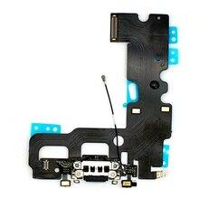 Док станция с usb портом для зарядки, гибкий кабель + микрофон + аудиоразъем для наушников, запасная часть для iphone 7, 7 Plus, зарядный гибкий кабель