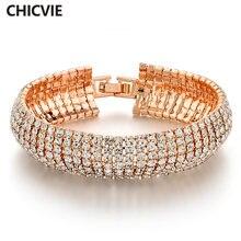 Chicvie ювелирные изделия серебряного цвета с австрийскими кристаллами