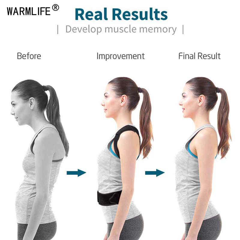 Image 4 - Magnetic Posture Corrector Therapy Brace Shoulder Back Support Belt for Men Women Braces & Supports Belt Shoulder Posture-in Braces & Supports from Beauty & Health