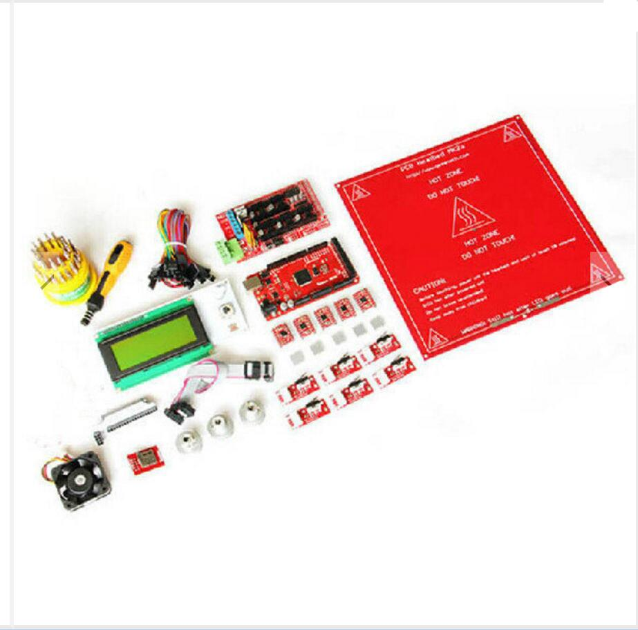 DuoWeiSi 3D Printer parts 3D Printer DIY Kit Mega2560 Ramps1.4 A4988 LCD2004 MK2A duoweisi 3d printer parts cubieboard3 a20 dual core development board cubietruck kit