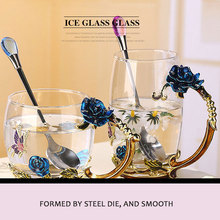 Tea Cup Water Creative High Borosilicate Glass Colour Crystal Coffee Pots Clear Dining