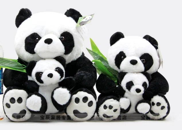 stuffed animal 38 cm lovely panda plush toy soft mother & child panda doll b3501 50cm lovely super cute stuffed kid animal soft plush panda gift present doll toy