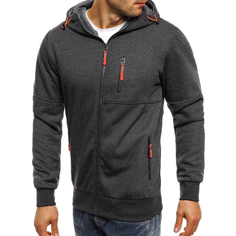 LAAMEI 2020 wiosna męska bluza bluzy bluza z zamkiem bluza męska fala żakardowe bluzy Streetwear płaszcz hip-hopowy