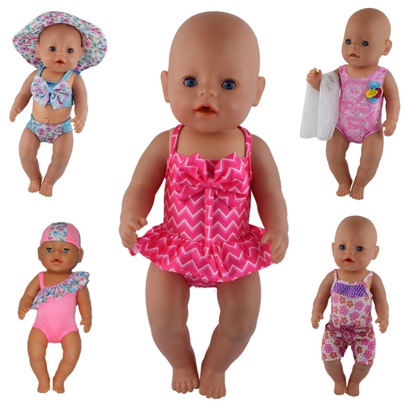 1 pairs bikini doll CLOTHES Wear Fit 43cm Baby Doll clothes and accessories CHIL