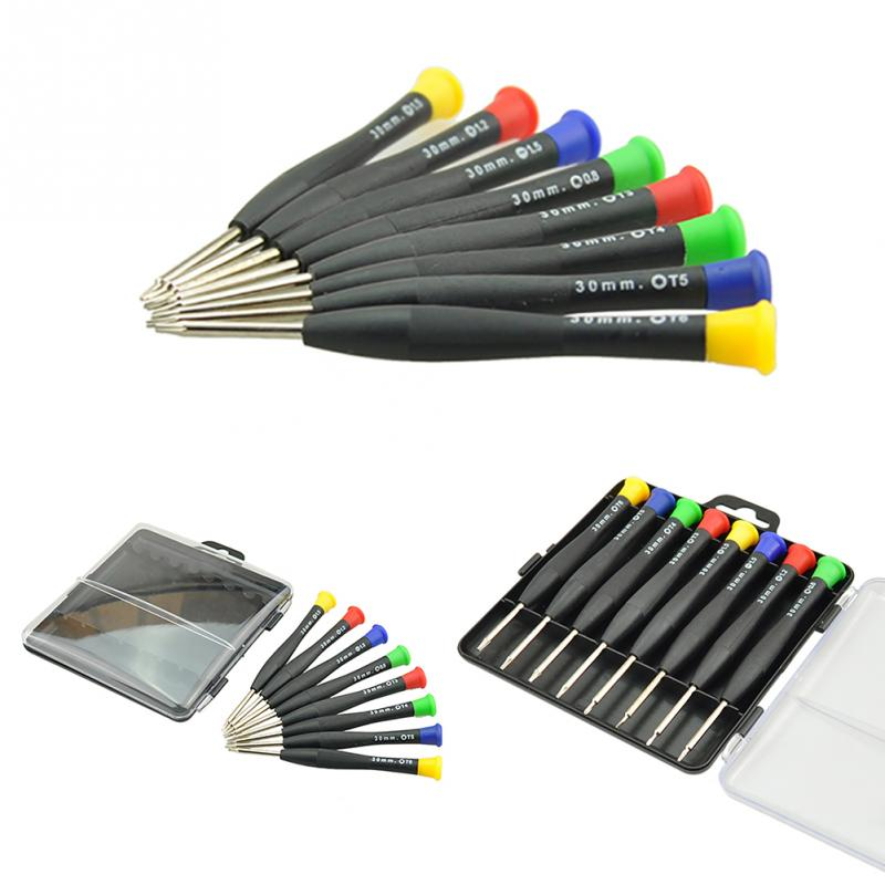 High Quality 8 in 1 Multifunction Precision Mini Screwdriver Disassemble Repair Tools Cross Pocket Set For Cell Phone PC цена