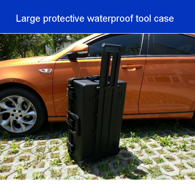 Tool Case Trolley Case Waterproof Safety Equipment Case Sealed Box  Photographic Equipment Protection Box With Pre-cut Foma 2750