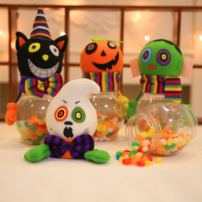 Funny Zombie Candy Jar Bottle Can Sweets Gift Box Halloween Party Home Decor