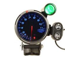 80Mmรถรอบต่อนาทีเครื่องวัดความเร็ว 0 11000RPM Shift Lightสำหรับ 1 ถึง 8 กระบอกสูบโลโก้