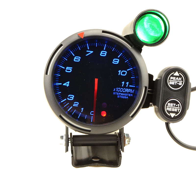 80mm 0-11000 RPM RPM Tacômetro Com Shift Luz Do Carro Apto Para 1 para 8 cilindros Com Logotipo