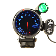 80mm Car RPM Tachometer 0 11000RPM With Shift Light Fit For 1 to 8 cylinders With Logo