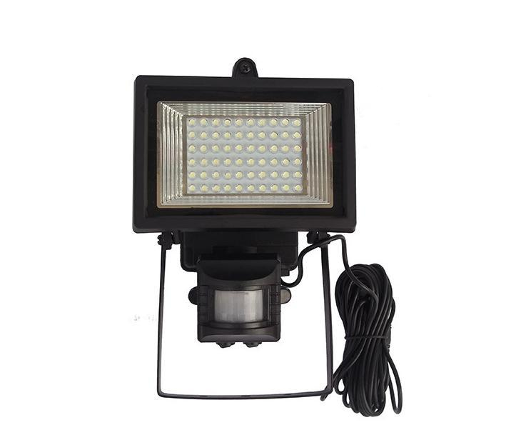 60 LED Solar Floodlight outdoor wall lamps garden LED Flood Security Garden Projecting Landscape Lawn Light with Motion Senso