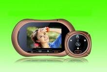 Freeship 3.7Inch Wide Angle Visual Door Peephole GSM MMS Door Viewer HD Door Eye Doorbell Video Door Phone Color IR Camera