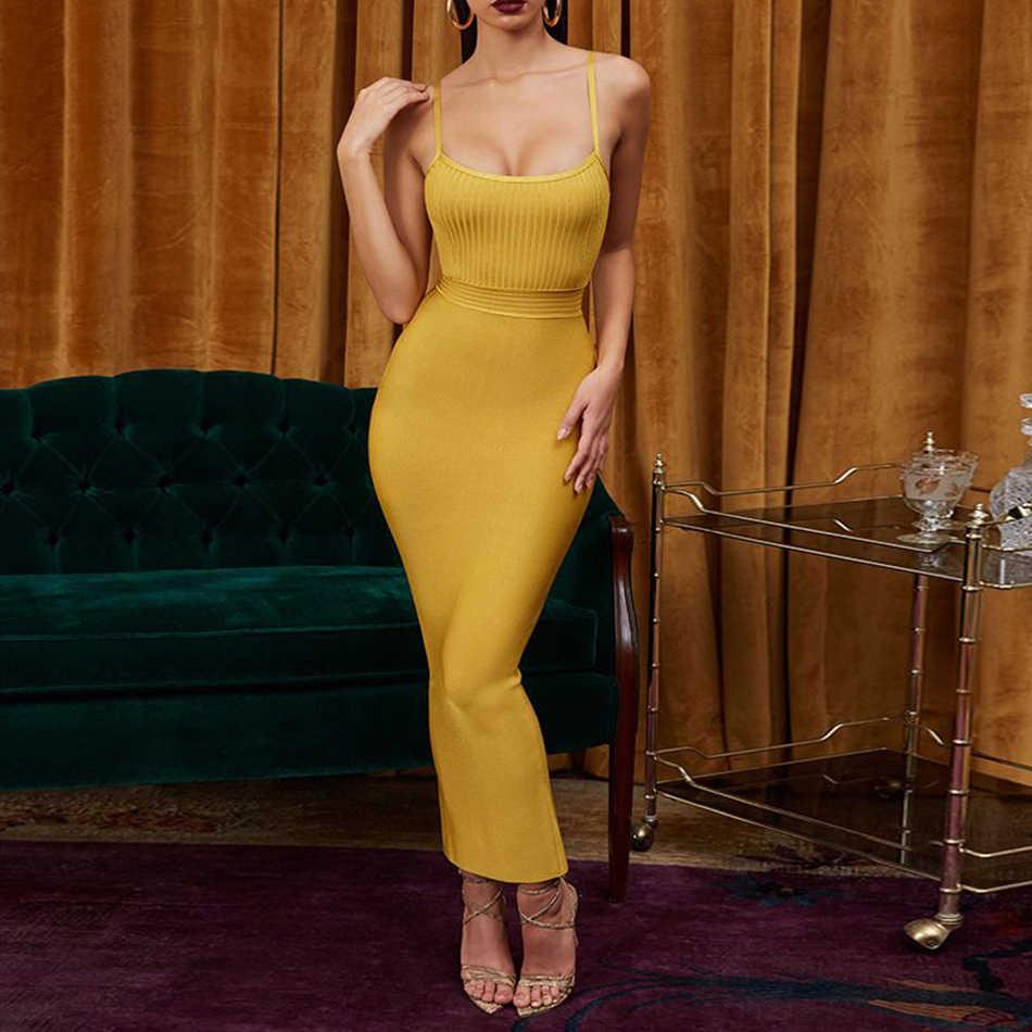 Adyce облегающее летнее Бандажное платье для женщин Vestido 2019 сексуальное платье на бретельках без рукавов Макси Клубное платье знаменитостей вечернее платье