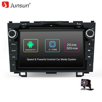 Junsun 8 Autoradio 2 Din Android Car DVD Multimedia Play Joying For Honda CRV 2006 2011