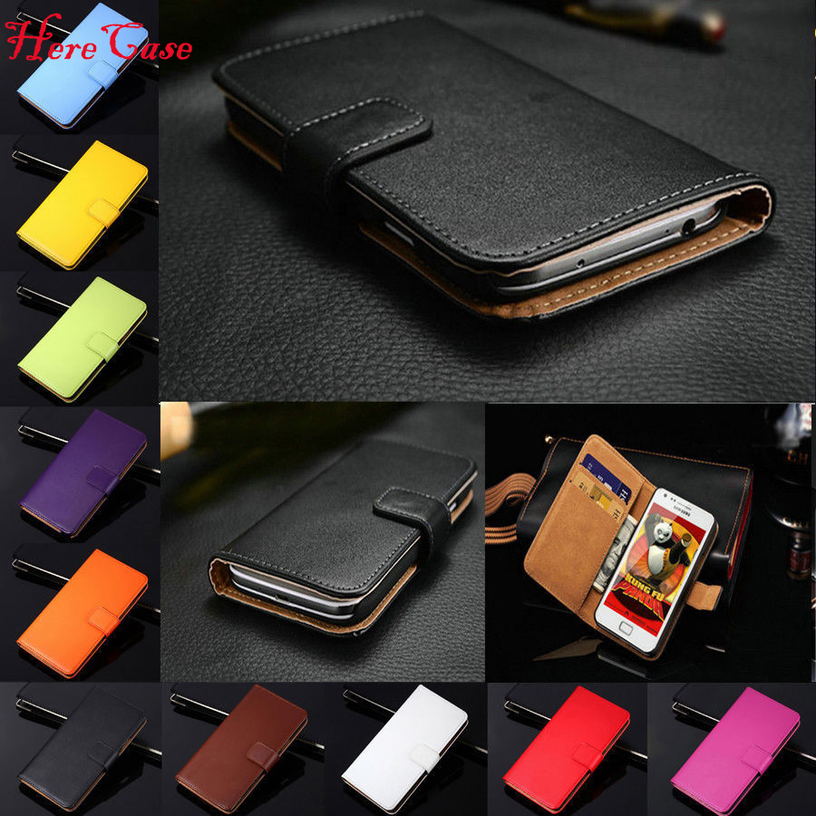 Genuine Leather <font><b>Flip</b></font> Wallet <font><b>Case</b></font> Cover Card Holder For <font><b>Samsung</b></font> <font><b>Galaxy</b></font> Series <font><b>S3</b></font> 4 5 <font><b>mini</b></font> S6 S7 edge S8 Note8 3 4 Mega 6.3 <font><b>case</b></font> image