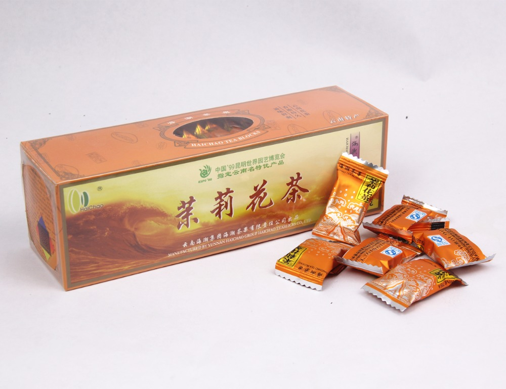 Chinese-puer-tea 125g Natural Freshest Jasmine Tea Flower Tea Organic Food Green Tea Health Care Weight Loss Free Shipping 250g jasmine flower tea green tea jasmine flavor biluochun tea jasmine bud free shipping