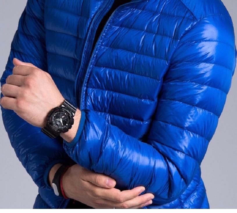 Men casual warm Jackets solid thin breathable Winter Jacket Mens outwear Coat Lightweight parka Plus size XXXL hombre jaqueta 18