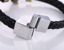 BLEACH bronze plated charm Bracelets leather chain