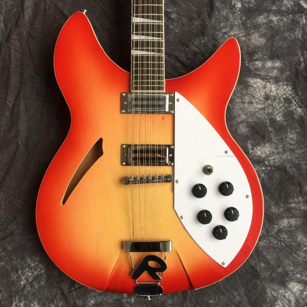 2019 suneye Custom Red 360 Semi 12 String Hollow Body Jazz Electric Guitar Ricken Guitars