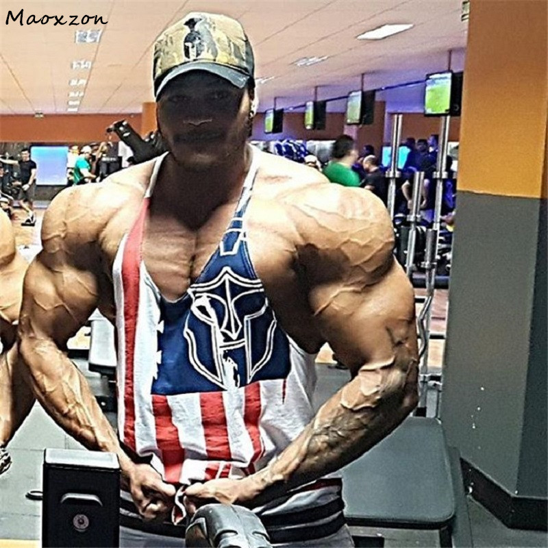 Maoxzon Men's Loose Muscle Fitness   Tank     Tops   Vests Male Summer Casual Bodybuilding Workout Gymnasium Sleeveless Shirts Quick Dry