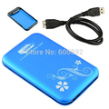 "Free Shipping USB3.0 HDD Case HARD DRIVE EXTERNAL ENCLOSURE 2.5"" SATA HDD CASE BOX"