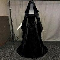 KANCOOLD Dress Women's Fashion Long Sleeve Hooded Medieval Dress Sashes loor Length Cosplay Dress women 2018Oct19