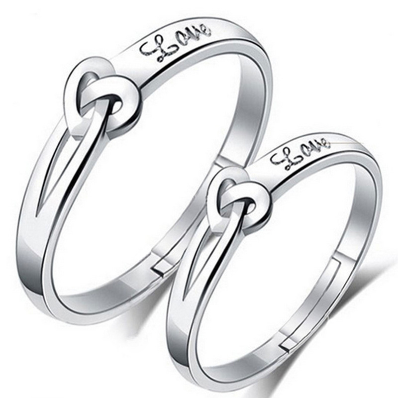 más en la tienda + Dulce 925 Sterling anillo de plata corazones Memory banda anillo nuevo