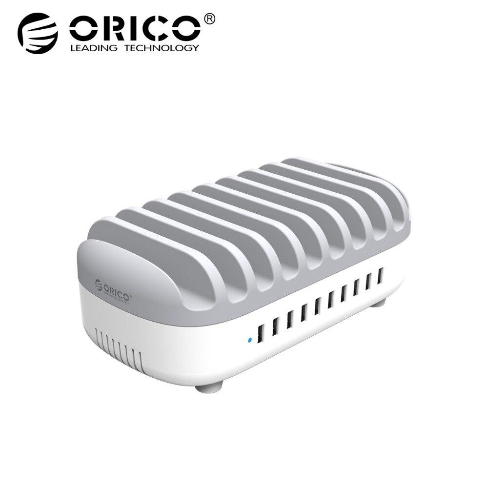ORICO DUK-10P Chargeur De Bureau Station Avec 10 Ports 120 w Sortie USB Chargeur Station Avec Support Pour Mobile Téléphone Tablet